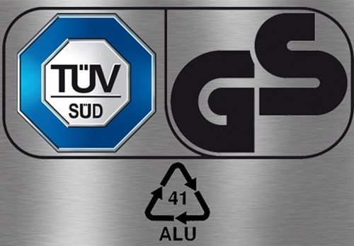 Certified from TÜV and GS