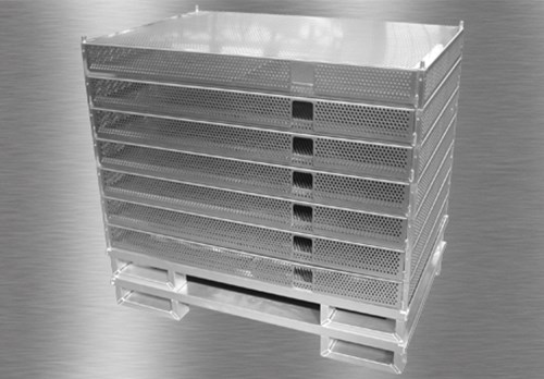 Special box with perforated shelves