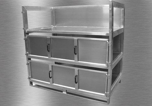 Special box with side pull out shelves